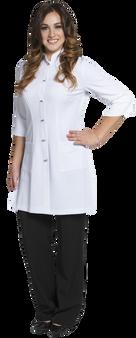 Joanne Martin Long Mandarin Lab Coat