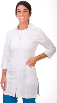 Excel 4-Way Stretch Jacket - White - Front