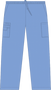 Mobb Unisex Drawstring/Elastic Scrub Pants sky blue