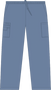 Mobb Unisex Drawstring/Elastic Scrub Pants gray