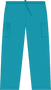 Mobb Unisex Drawstring/Elastic Scrub Pants turquoise