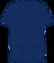 Mobb V-NECK UNISEX SCRUB TOP dark blue