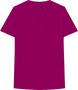 Mobb V-NECK UNISEX SCRUB TOP red purple