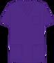 Mobb V-NECK UNISEX SCRUB TOP purple