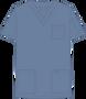 Mobb V-NECK UNISEX SCRUB TOP bluish