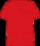 Mobb V-NECK UNISEX SCRUB TOP red