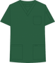 Mobb V-NECK UNISEX SCRUB TOP dark green