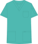 Mobb V-NECK UNISEX SCRUB TOP turquoise