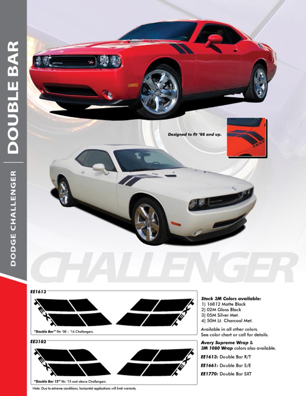 Dodge Challenger Hash Mark Stripes Grand Sport Fender Bar Decals 3M