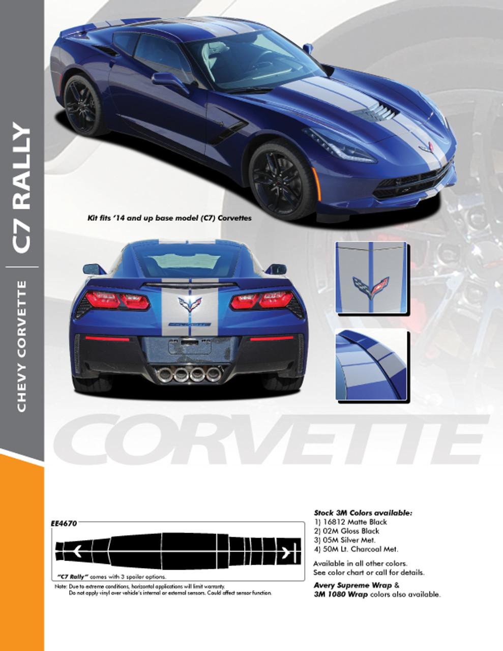 Corvette C6 2005-2013 Side Racing Stripe Graphics Style 1