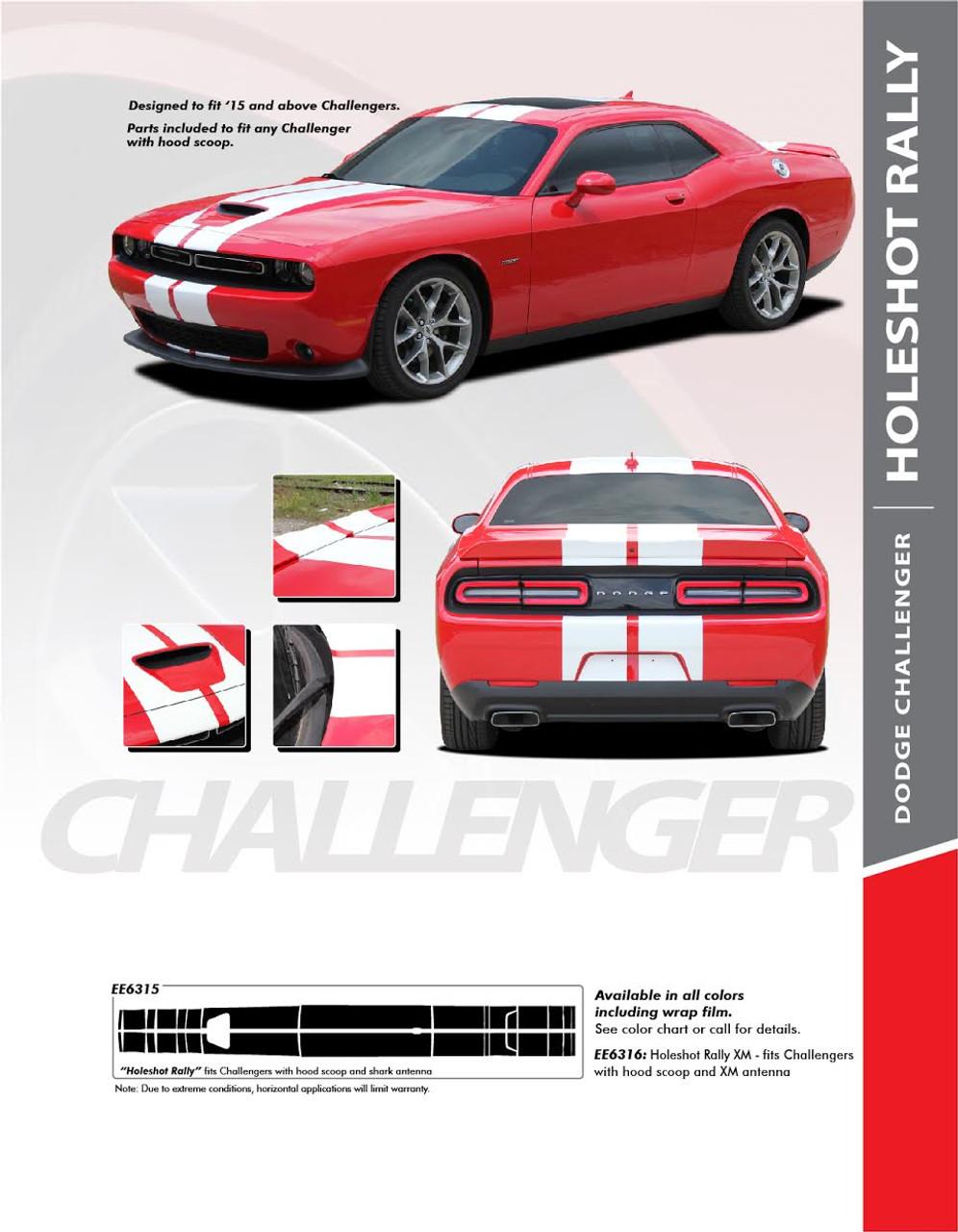 Dodge Challenger Narrow CUDA Side Strobe Stripes Decals 2011 2012 2013 2014