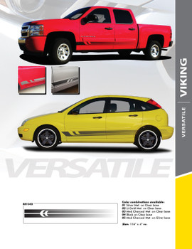 VIKING : Universal Fade Style Vinyl Graphics Rocker Panel Stripes