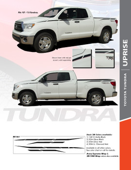 UPRISE : 2007-2013 Toyota Tundra Upper Body Accent Striping and Graphics Kit