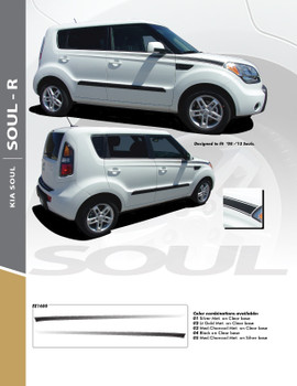 SOUL R : Vinyl Graphics Kit Engineered to fit the 2010 2011 2012 2013 KIA Soul
