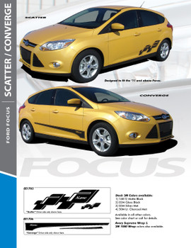 SCATTER : 2012 2013 2014 2015 2016 2017 Ford Focus Vinyl Graphics Kit