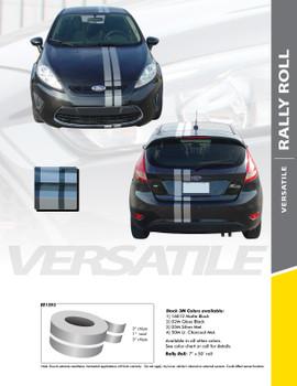 RALLY ROLL : Universal Euro Style Vinyl Racing Stripes Roll