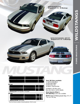 WILDSTANG 05 : 2005-2009 Ford Mustang Lemans Style Vinyl Racing Stripes Kit
