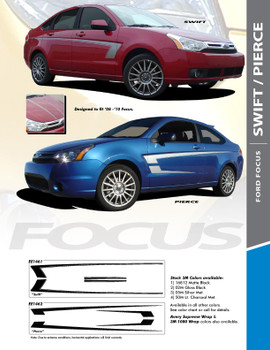 Ford SWIFT and PIERCE : Ford Focus Vinyl Graphics Packages