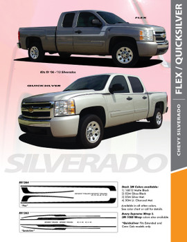 FLEX : 2007-2018 Chevy Silverado Side Door to Fender Vinyl Graphics Decal Stripe Kit