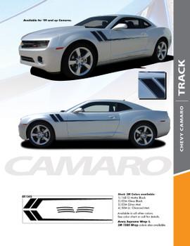 TRACK : 2010-2015 Chevy Camaro Side Door Hockey Striping Vinyl Graphics Decal Kit