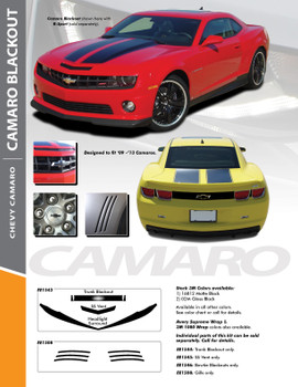 TOTAL BLACKOUTS : 2010 2011 2012 2013 Camaro Accent Decals Kit
