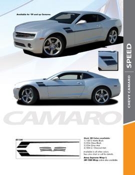 SPEED : 2010- 2015 Camaro Hockey Decal Side Vinyl Graphics Striping Decal Kit