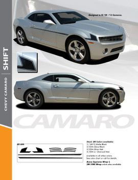 SHIFT : 2010- 2015 Camaro Hockey Decal Side Vinyl Graphics Striping Decal Kit