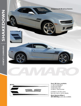 SHAKEDOWN : 2010-2015 Chevy Camaro Side Door Hockey Vinyl Graphics Striping Kit