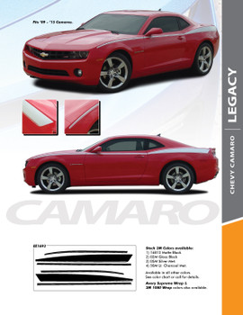 LEGACY : 2010-2015 Chevy Camaro Upper Side Door Accent Vinyl Graphic Stripe Kit