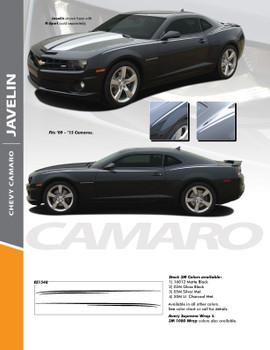 JAVELIN : 2010-2015 Chevy Camaro Upper Body Pin Striping Decal Vinyl Graphic Kit