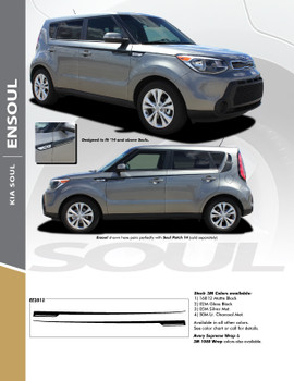 ENSOUL : 2014-2019 Kia Soul Upper Body Line Accent Vinyl Graphics Decal Stripe Kit