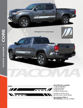 CORE : 2015 2016 2017 2018 2019 2020 Toyota Tacoma Crew Lower Door Rocker Panel Accent Trim Vinyl Graphic Striping Decal Kit