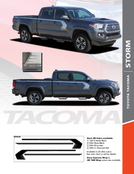STORM : 2015 2016 2017 2018 2019 2020 Toyota Tacoma Side Door Upper Body Hockey Stick Accent Trim Vinyl Graphic Striping Decal Kit