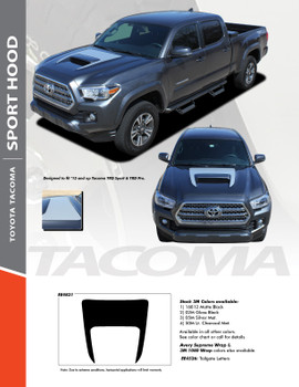 SPORT HOOD : 2015 2016 2017 2018 2019 2020 Toyota Tacoma TRD SPORT and TRD PRO Hood Accent Trim Vinyl Graphic Striping Decal Kit