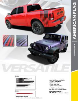 AMERICAN FLAG : Universal Style Vinyl Graphics Kit