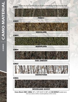 CAMO MATERIAL : Universal Style Vinyl Graphics Kit