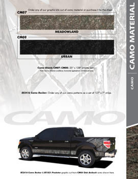 CAMO MATERIAL : Universal Style Vinyl Graphics Kit