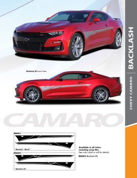 BACKLASH : 2019-2020 Chevy Camaro Side Door Body Decal Vinyl Graphics Kit (PDS-6001)