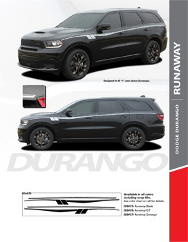 RUNAWAY : 2011-2020 Dodge Durango SIde Accent Vinyl Graphics Decal Stripe Kit (PDS-6075)