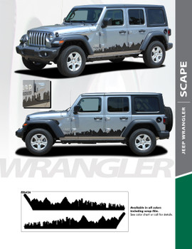 SCAPE : 2018-2020 Jeep Wrangler Side Vinyl Graphics Decal Stripe Kit (PDS-6426)