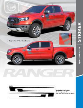STRIKER : 2019 2020 Ford Ranger Body Stripes Decals Vinyl Graphics Stripe Kit (PDS-6543)