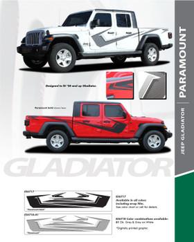 PARAMOUNT : 2020 Jeep Gladiator Side Body Decal Vinyl Graphics Stripe Kit (PDS-6717)