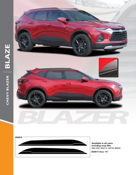 BLAZE : 2019-2020 Chevy Blazer Lower Rocker Panel Accent Vinyl Graphic Factory OEM Style Decal Stripe Kit (PDS-6816)