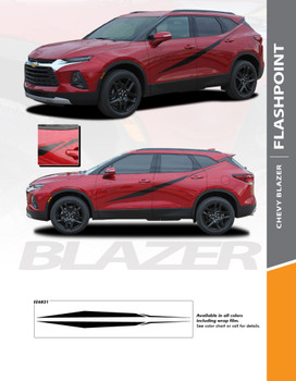 FLASHPOINT : 2019-2020 Chevy Blazer Side Door Vinyl Graphic Decal Stripe Kit (PDS-6821)