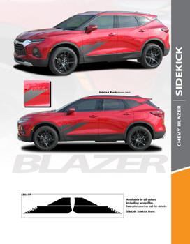 SIDEKICK : 2019-2020 Chevy Blazer Side Door Vinyl Graphic Decal Stripe Kit (PDS-6819)