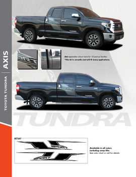 AXIS : 2015-2021 Toyota Tundra Side Door Stripe Body Accent Decals Vinyl Graphics Kits