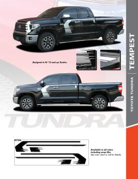TEMPEST : 2015-2021 Toyota Tundra Side Body Vinyl Graphics Hockey Stick Decal Design Stripe Kit