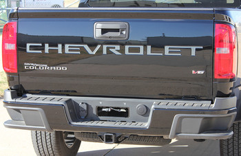 TAILGATE LETTERS : 2021 Chevy Colorado Rear Tailgate Letters Accent Vinyl Graphic Package Decal Stripe Kit (PDS-7367)