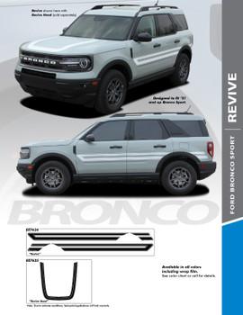 REVIVE : 2021+ Ford Bronco Sport Body Stripes Decals Vinyl Graphics Stripe Kit