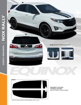 NOX RALLY : 2018-2022 Chevy Equinox Hood Racing Stripes Vinyl Graphic Factory OEM Style Decal Stripe Kit